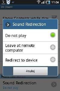 Przesyłanie dźwięku obciąża dodatkowo łącze i telefon - konfiguracja 2X Client