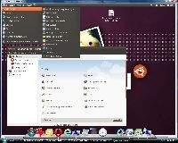 Okno zdalnego pulpitu Ubuntu na ekranie Visty
