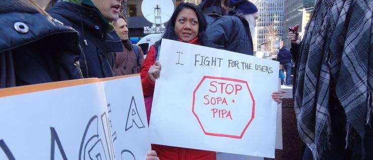 Jeden z protestów przeciwko ustawom SOPA i PIPA