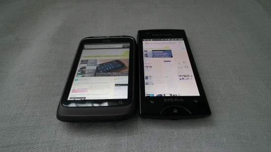 Różnice między SE Xperia Ray a HTC Wildfire S