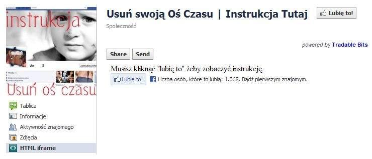 """Polska wersja oszustwa """"Usuń swoją Oś czasu"""""""