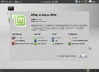 Ekran powitalny wyświetlany po zainstalowaniu LinuxMint