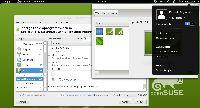 Pulpit w środowisku GNOME dystrybucji openSUSE