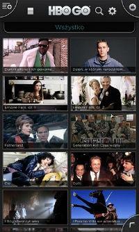 HBO GO Polska, screen z aplikacji w polskiej wersji językowej. Oglądaj swoje ulubione seriale i filmy.