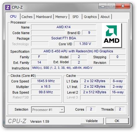 Sony VAIO VPCYB3V1E - CPU