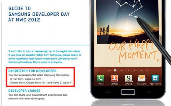 Samsung Galaxy Note na MWC 2012