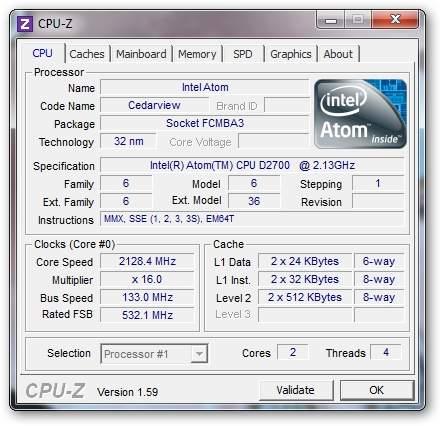 Asus Lamborghini VX6s - CPU