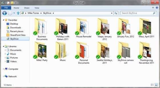 Klient SkyDrive do użytku na pulpicie