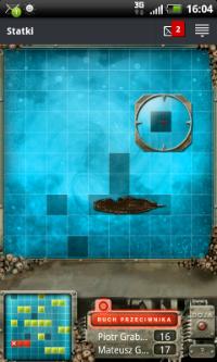 Za pomocą aplikacji mobilnej GG można grać w proste gry, na przykład statki