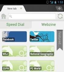 "Dolphin Browser HD: funkcja ""Webzine"""