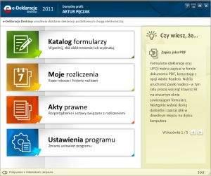 Program e-Deklaracje Desktop umożliwia wypełnianie i przesyłanie zeznań PIT, które nie wymagają złożenia bezpiecznego podpisu elektronicznego.