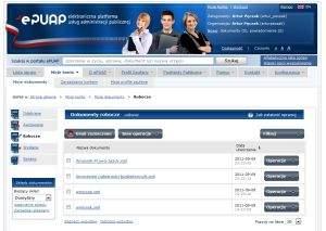 ePUAP to repozytorium dokumentów. Zaprojektowano je na wzór skrzynek stosowanych w programach pocztowych. Widok Sprawy to dodatkowy sposób prezentacji dokumentów zorganizowanych według spraw załatwianych w urzędzie.
