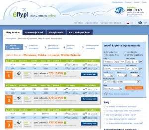 Wyszukiwarki połączeń lotniczych, np. efly.pl, umożliwiają szybkie porównanie cen różnych przewoźników na jednej trasie.