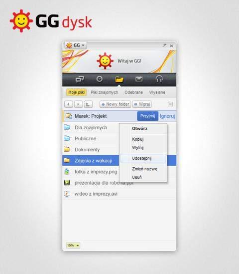 GG Dysk: moje pliki