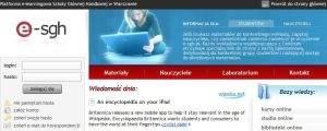 Platforma e-learningowa Szkoły Głównej Handlowej w Warszawie