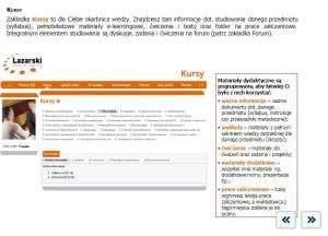 Distance Learning na uczelni Łazarskiego. Szkoła ma w ofercie wirtualne studia: Zarządzanie I stopnia oraz Ekonomię na studiach II stopnia