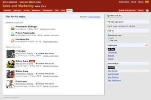 Dodawanie i przeglądanie plików w usłudze Basecamp jest niezwykle intuicyjne. Twórcy programu zwrócili uwagę na wygodę pracy zwykłego użytkownika