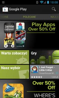 Google Play nie zmienił się zbytnio względem Android Marketu