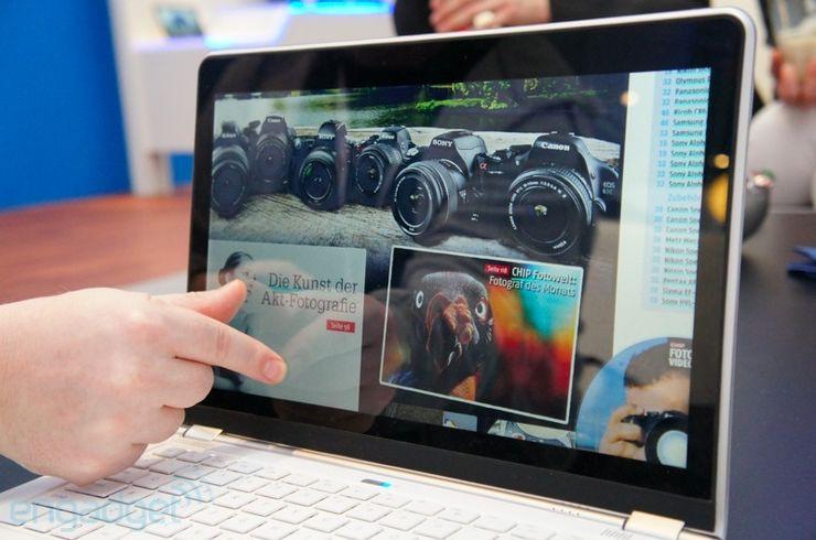 Ultrabook Intela z ekranem dotykowym