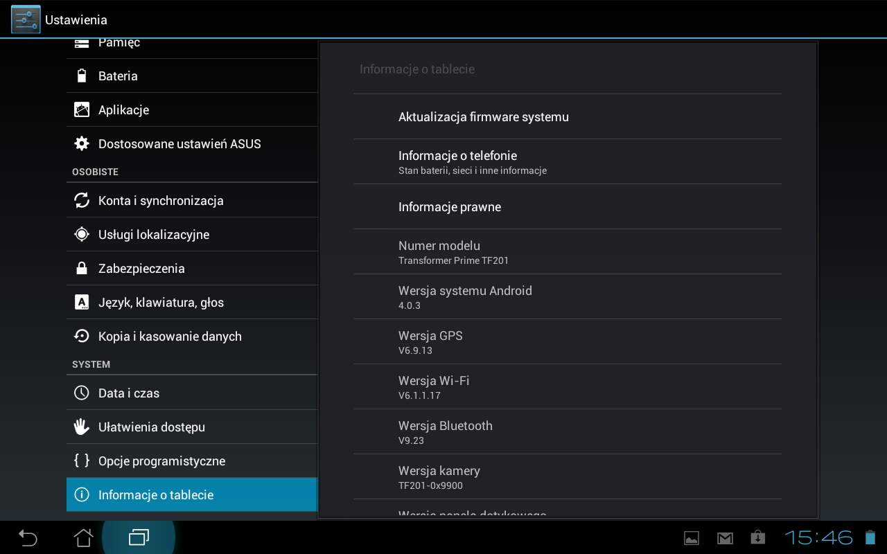 Asus Transformer Prime TF201 - Android 4