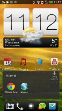 Ekran główny w nowym HTC Sense