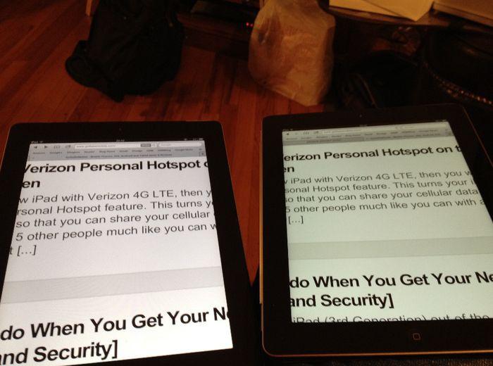 Porównanie obrazów wyświetlanych przez iPada 2 i nowego iPada
