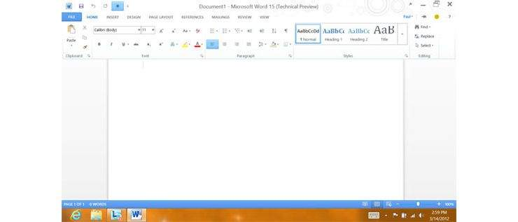Microsoft Office 15 Technical Preview