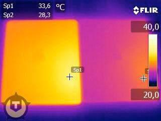Generowane ciepło przez nowego iPada i jego poprzednika (źródło: Tweakers.net)