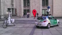 Google Streetview pod PKiN w Warszawie