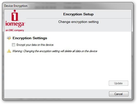 Iomega Prestige Desktop Hard Drive - dołączone oprogramowanie