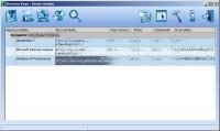 Najpierw narzędzie Recover Keys bada rejestr Windows w poszukiwaniu numerów seryjnych zainstalowanego oprogramowania i rozszyfrowuje je. Potem wyświetla znalezione numery w przejrzystej tabeli. Aby ją zapisać, kliknij ikonę dyskietki i wybierz żądany format.