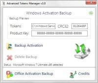 Kliknij polecenie Restore Activation w programie Advanced Tokens Manager, aby aktywować nowo zainstalowany system Windows.