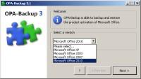 Program OPA-Backup, który potrafi tworzyć zapasową kopię danych aktywacyjnych Microsoft Office, zna wiele wersji tego popularnego pakietu biurowego.