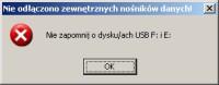 Przed zamknięciem systemu skrypt pcwUnstick ostrzega o nieodłączonych pendrive'ach i dyskach FireWire. Umieść go na liście skryptów uruchamianych automatycznie podczas wylogowywania w edytorze zasad grupy.