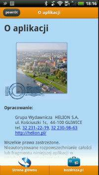 Kraków na Majówkę - informacje o aplikacji