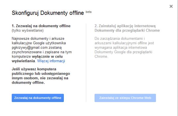 Konfiguracja Dokumentów Offline
