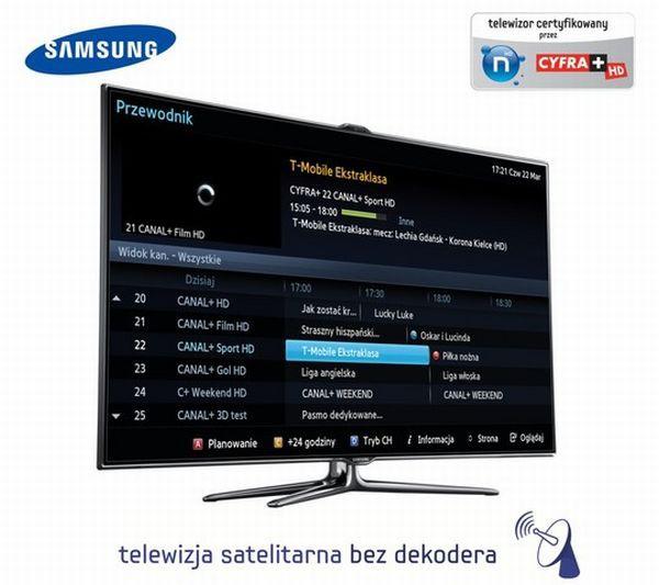 Cyfra+ i N bez dekodera w 38 telewizorach Samsung Smart TV?