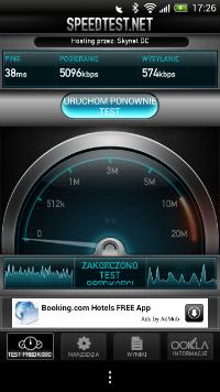 Speedtest.net w wersji na Androida