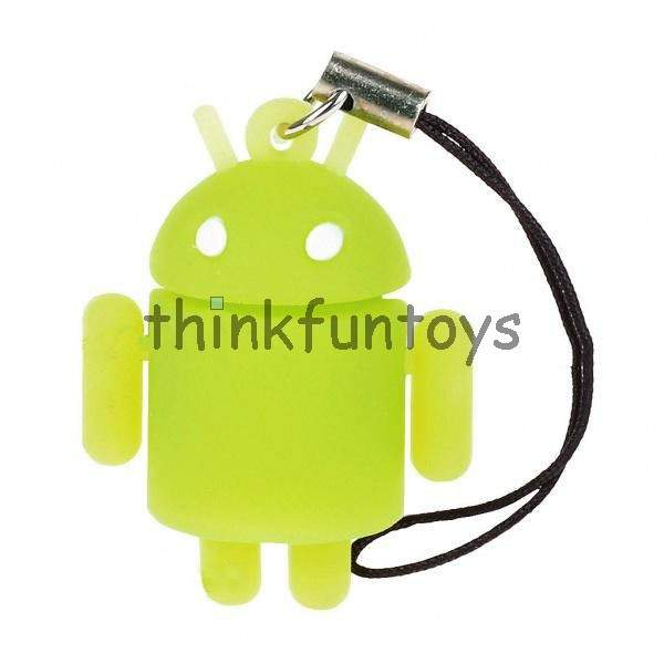 Glow in the Dark Android Keychain