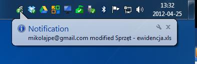 InSync wyświetla powiadomienia, gdy ktoś edytuje współdzielony plik