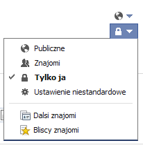 Ustawienie adresu @facebook.com jako widocznego tylko dla nas nie zostało zmienione