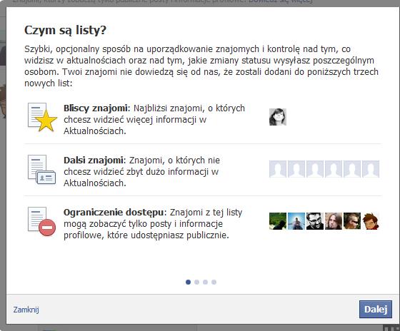 Facebook udostępnił zaawansowane zarządzenia listami