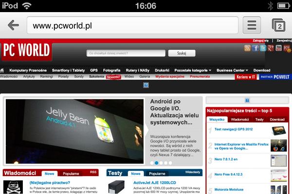 Interfejs Chrome