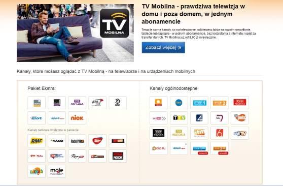 Oferta telewizji mobilnej Polsatu