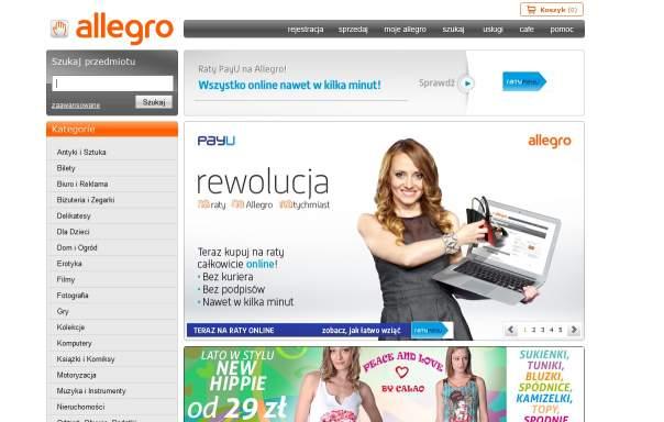 Allegro z opcją zakupów na raty