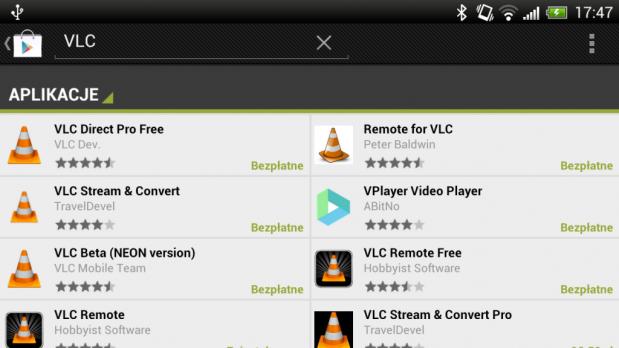 Jest dużo programów z VLC w nazwie, ale tylko jeden jest faktycznie odtwarzaczem