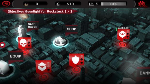 Ekran wyboru misji