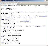 Oj, dawno to było temu… - w 1989 r. Tim Berners-Lee stworzył sieć World Wide Web. Ilustracja przedstawia zmodyfikowaną wersję pierwszej na świecie strony WWW.