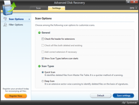 Systweak Advanced Disk Recovery