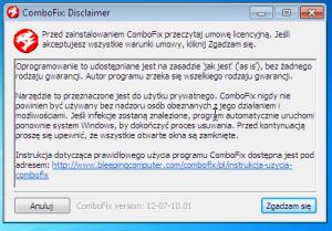 Licencja użytkowania Combofixa